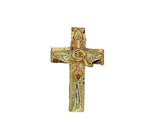 Stamper Black Hills Gold 12K Cross Tie Tac. TACC5