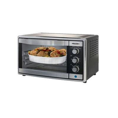 Oster 6081 Countertop Toaster Oven, Brushed Stainless Steel