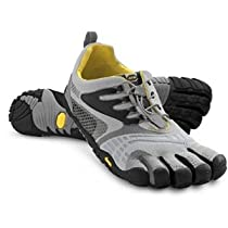 Vibram FiveFingers Mens KomodoSport LS Light Grey-Black Athletic Shoes