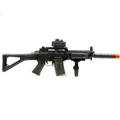 Double Eagle M82 Airsoft Electric Gun S552 Sytle Electric Rifle FULLY LOADED