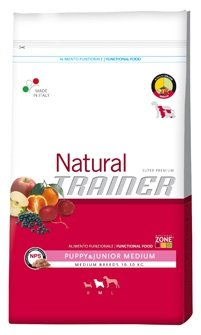 Trainer Natural - Natural Trainer Puppy & Junior Medium per Cani - Sacco da 3 Kg
