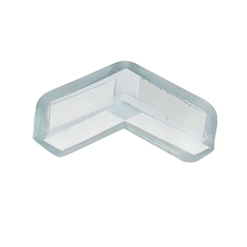 uxcell Soft Plastic Pad Desk Corner Safety Protector Clear Blue - 1