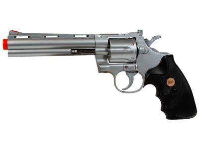 938 UHC 6 inch revolver, Silver airsoft gun