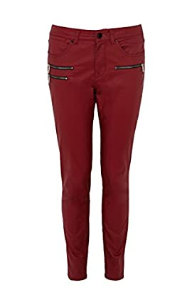 Red coated jean