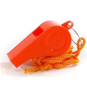 SE - Whistle with Lanyard - Plastic, Colors May Vary - WH3-B