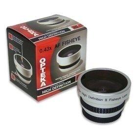 Opteka 0.43x HD² Full Fisheye Lens for Canon VIXIA HF R200, R20, R21, ELURA 80, 85, 90, OPTURA 50, 60, 600, MVX300, MVX330i, MVX350i, MVX40i/40, MVX45i and MVX4i Digital Camcorders