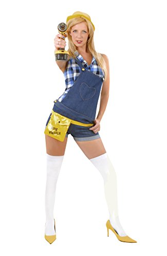 ROLEPLAY-Ladies-Builder-Fancy-Dress-Costume-Adult-Sexy-Outfit-Hen-Night-Party