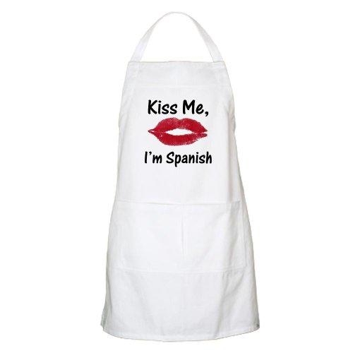 Cafepress Kiss Me, I'M Spanish BBQ Apron - Standard