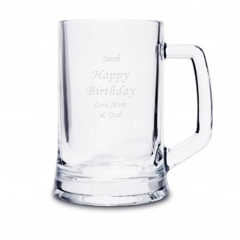 Wedding Gift Company Personalised Glass Pint Stern Tankard
