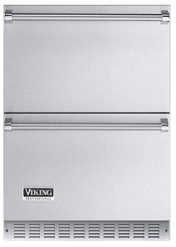 Viking Stainless Steel Drawers Freestanding/Built In Refrigerator VURD1441TSS