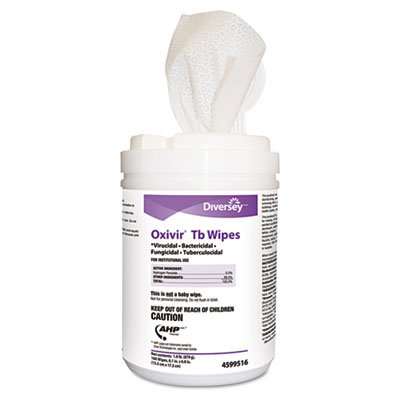 Disinfectant Wipes, 6 quot;x7 quot;, White