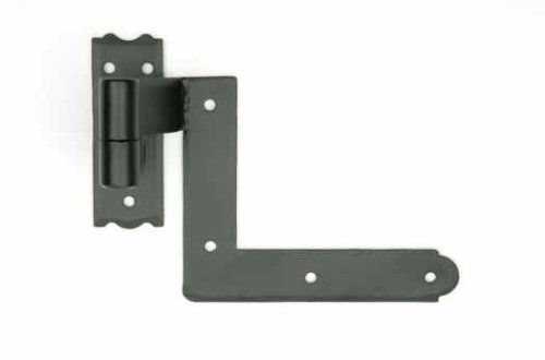 Black Blind Shutter Hinges for Brick - 1 PAIR PER PACK [CAPITOL CITY LUMBER]