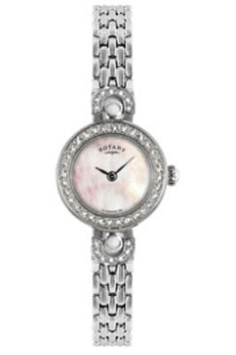 Rotary LB02818/41 Ladies Stainless Steel Bracelet Watch with Diamond Set Bezel