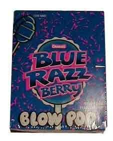 Charms Blue Razzberry Blow Pops (Blo Pops) Lollipops 48 count