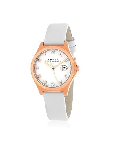 Marc by Marc Jacobs Women's MBM9057 White Stainless Steel/Leather Watch