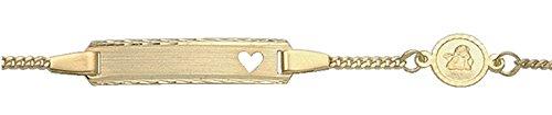 Damen Schmuck Gold Identitätsarmband mit Motiven aus 585 Gelb Gold ( 14 cm ) ( 1,4 mm ) kaufen