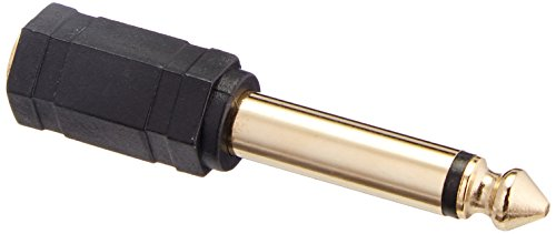 Monoprice 6.35mm Mono Plug to 3.5mm Stereo Jack Adaptor Gold Plated