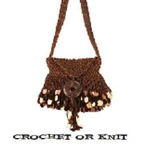 Cha-cha Beaded Shoulder Bag - Knit or Crochet Purse Kit - Bronze from The BagSmith