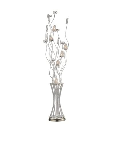 Artistic Lighting Cyprus Grove Floor Lamp, Satin Nickel