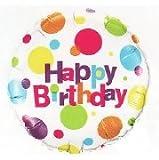 Birthday Big Polka Dots Foil Balloon 誕生日ビッグポルカドットホイルバルーン♪