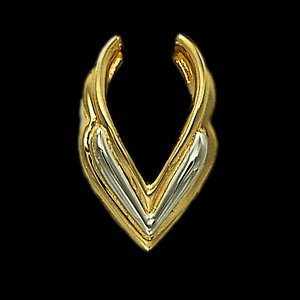 14K Yellow Gold/White Gold Two Tone Pendant Enhancer
