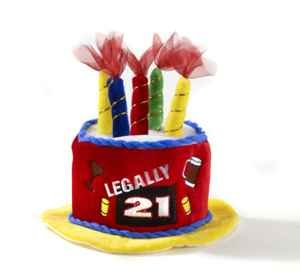 21 Birthday Cake Hat