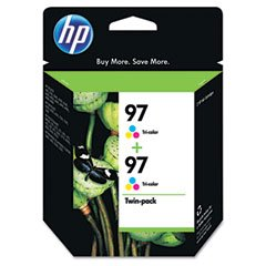 Hewlett Packard Compatible No. 97 Tri-Color Inkjet (450 Page Yield) (2/PK) (C9349FN)