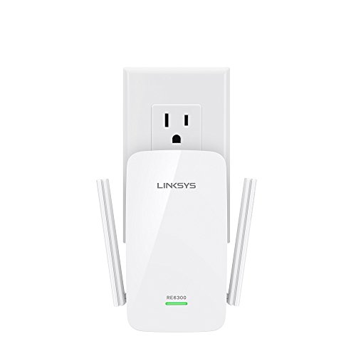 Linksys AC750 Boost Dual-Band Wi-Fi Gigabit Range Extender / Repeater (RE6300) (Dual Band Range Extender Repeater compare prices)