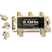 Two Gigahertz Low-Loss RF Splitters for TV & Satellite MKII - 4 Way 2 GigaHertz RF Splitter