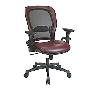 Mesh And Leather Ergonomic Computer Chair Office Products