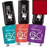 Rimmel 60 Seconds Nail Polish, Ready Aim Paint