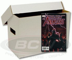 BCW Short Comic Book Storage Box - (Bundle of 10) Corrugated Cardboard Storage Box - Comic Book Collecting Supplies