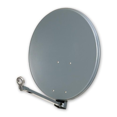 triax sat spiegel 64 cm stahl lichtgrau satconn twin. Black Bedroom Furniture Sets. Home Design Ideas