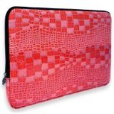 Pink Crocodile Animal Skin Textured fit 13 - 14 inch Notebook Laptop Sleeve Carrying Case