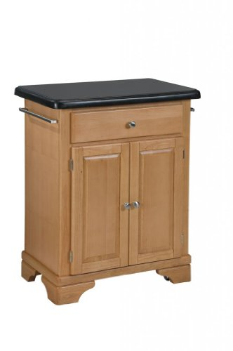 Cheap Kitchen Cart with Black Granite Top in Maple Finish (VF_HY-9003-0094)