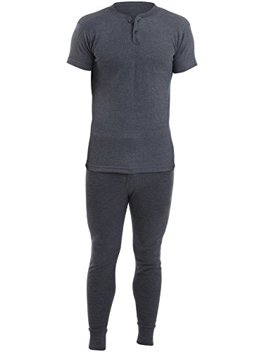2 MensThermal Underwear Set 2 Grandad Short Sleeve Vest & 2 Long Johns Various Colours & Sizes