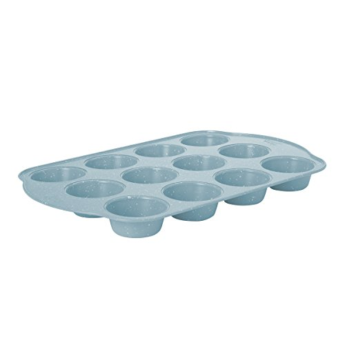Baker's Advantage Carbon Steel Muffin Pan, Blue