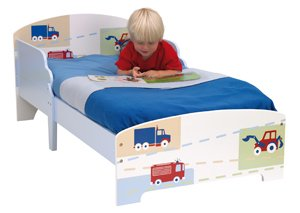 Boys Transport Generic Toddler Bed and Mattress