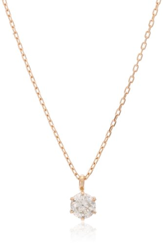 Dee collection D-COLLECTION K18 pink gold diamond necklace 0.3 ct classic simple diamond in 18kt pink gold / private BOX Magzine DS20153PG