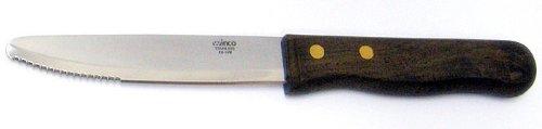 """Jumbo Steak Knife Red Sandalwood Handle - 5"""""""