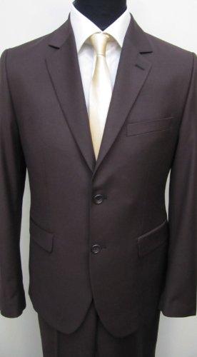 MUGA Modern Slim-fit Men's Suit 2-Piece, Brown, size 34R (EU 44)