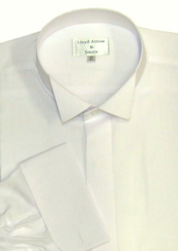 Wing Collar Formal Dress Shirt Ivory