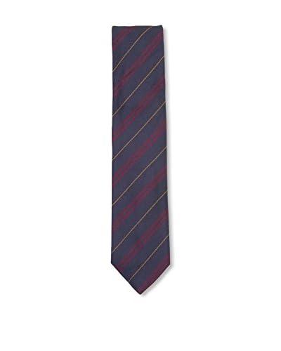 Ermenegildo Zegna Men's Diagonal Striped Silk Tie, Navy