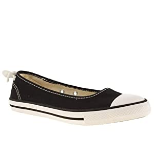 Converse All Star Dainty Ballerina - 6 Uk - Black & White - Fabric