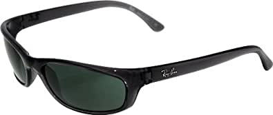 Ray-Ban RB 4115 Sunglasses Styles - Smokey Black Frame / Green Lenses, RB4115-606-71-57