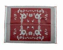 "Ming's Mark FB5 6"" X 9"" Burgundy Floral Mat"
