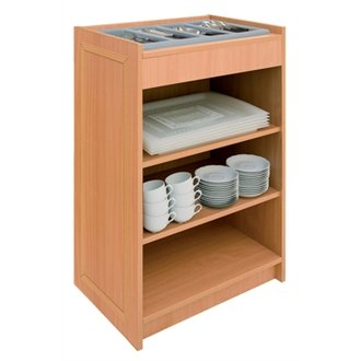 Cutlery Stand (Beech Effect) - practical, heavy duty stands that are ideal for hotels, care homes or restaurants