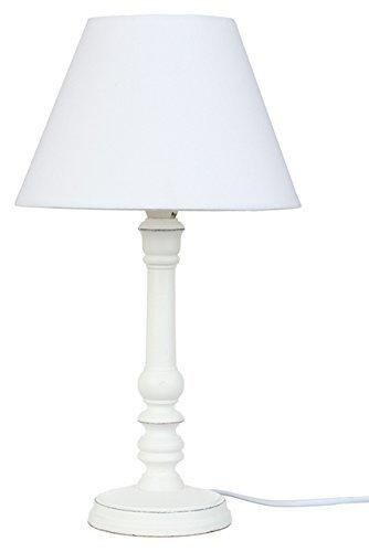 Nachttischlampe-Schlichter-Stil-Farbe-WEI-patiniert