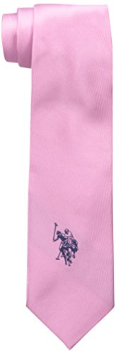 US-Polo-Assn-Mens-Twill-Solid-with-Logo-Tie