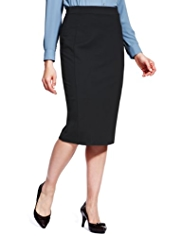 M&S Collection Seam Knee Length Pencil Skirt with Secret Support™